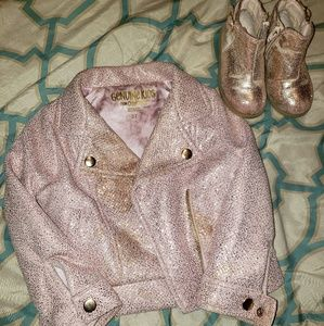Pink Metallic Jacket and Boot combo